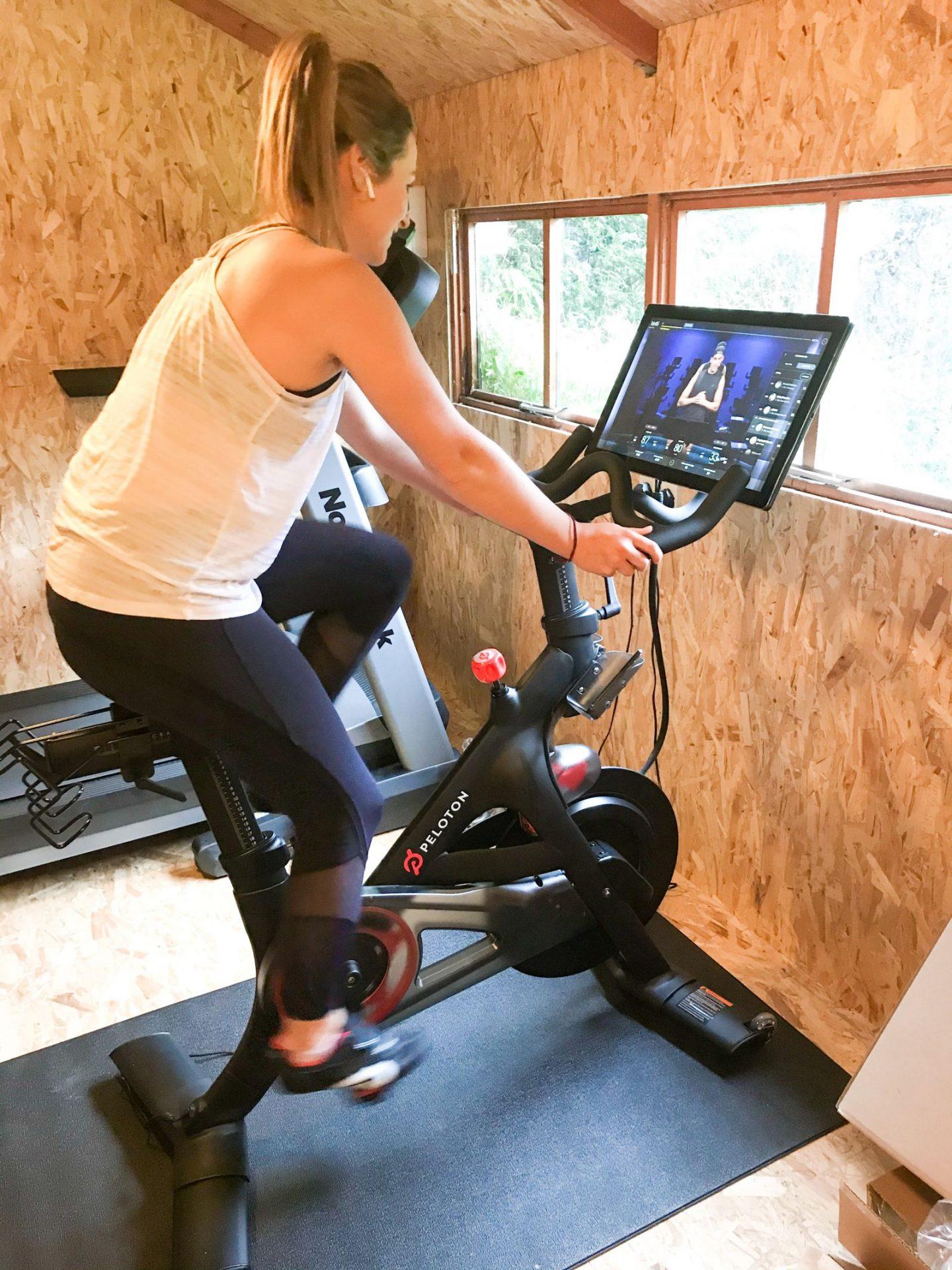 Peloton bike home gym UK